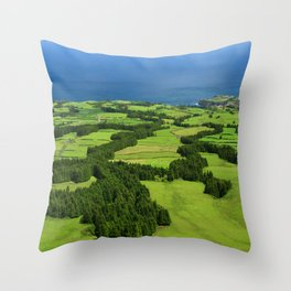 Typical Azores landscape Throw Pillow