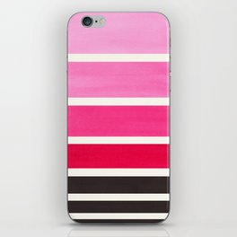 Magenta Minimalist Mid Century Modern Color Fields Ombre Watercolor Staggered Squares iPhone Skin