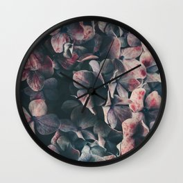 hydrangea - moody blues Wall Clock