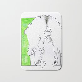 Girl in green Bath Mat