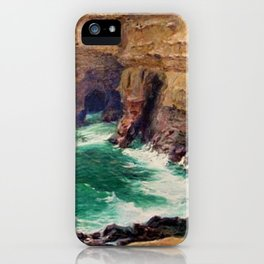 La Jolla Caves by Guy Rose iPhone Case