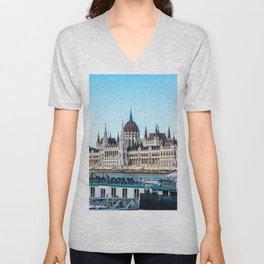 Cityscape of Budapest Unisex V-Neck