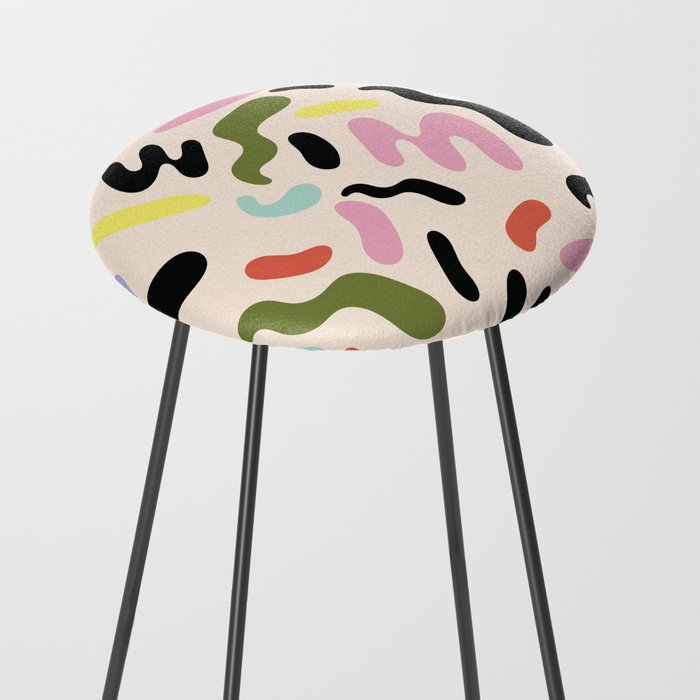 SQUIGGLE BEAN Counter Stool