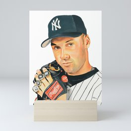 𝓜𝓛𝓑 - Society6 - New York - Hall Of Fame - Baseball - Derek Sanderson 𝕵𝖊𝖙𝖊𝖗 - 2 - A12 Mini Art Print