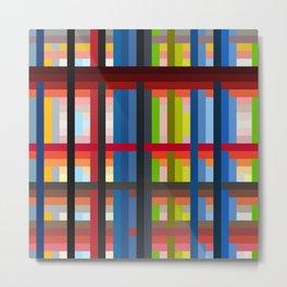 geometric retro colorful Naiad Metal Print
