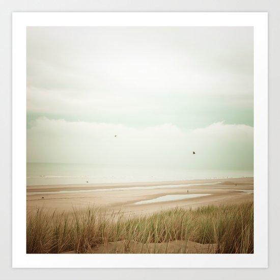 Beach Sea Sky Art Print