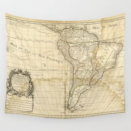 Map of South America circa 1708 (L'Amerique meridionale) Wall Tapestry