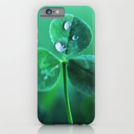 Fresh Green Clover Dew iPhone Case