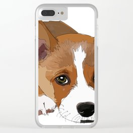 All I Need is Coffee & My Corgi Clear iPhone Case