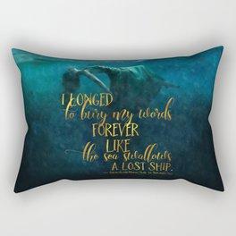 Fear of the Drowning Deep - Bury My Words Rectangular Pillow