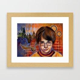 Harry's First Quidditch Match Framed Art Print