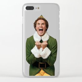 BUDDY THE ELF! Christmas Movie Will Ferrell Clear iPhone Case