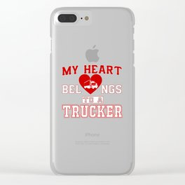 My heart belongs to a Trucker Clear iPhone Case