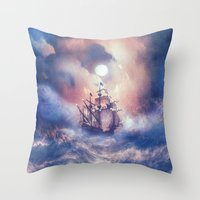 storm Throw Pillows featuring Perfect storm.  by Viviana Gonzalez