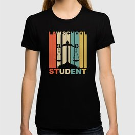 Vintage 1970's Style Law School Student Graphic T-shirt