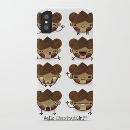 Chestnut Girl Mood iPhone Case