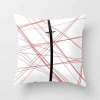 kill la kill Throw Pillows featuring Kill La Kill - Bakuzan by joyeuse