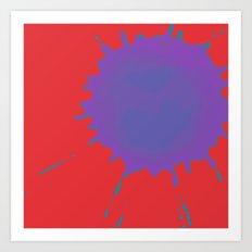 Splat on Red - by Friztin Art Print