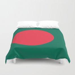 Flag of Bangladesh, High Quality Image Duvet Cover