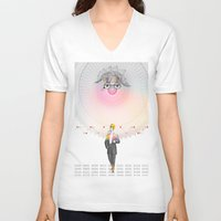 "architect V-neck T-shirts featuring ""The Big Architect"" by Alessandro De Vita"