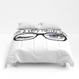 I'm a Very Nerdy Girl with Periwinkle Eye Shadow Comforters
