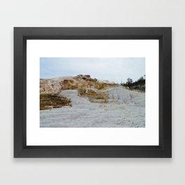 ice castle Framed Art Print