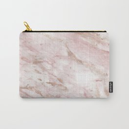 Pink marble - rose gold accents Carry-All Pouch