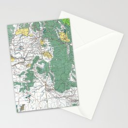 Pacific Northwest Map Stationery Cards