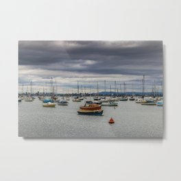 Clouds over a Calm Ocean Metal Print