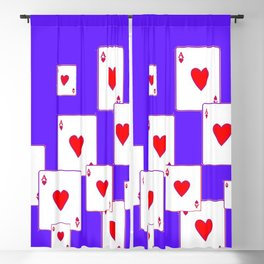 CASINO ACES RED HEARTS  & PURPLE  ART Blackout Curtain