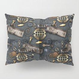 Mechanical steampunk grunge print. Pillow Sham