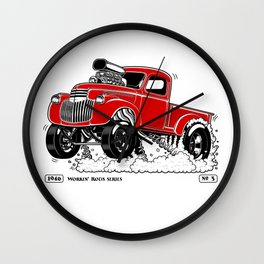 1946 Chevy Pick-up – RED Wall Clock
