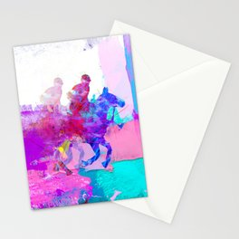 poloplayer abstract redblue Stationery Cards