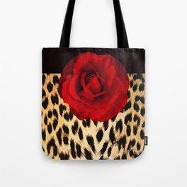 Leopard Rose by Lika Ramati Tote Bag