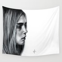cara Wall Tapestries featuring Cara by Siney