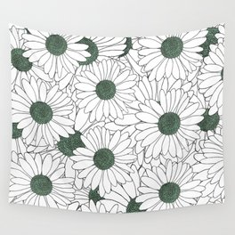 Daisy Mint Wall Tapestry