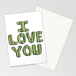 I Love You Cactus Stationery Cards
