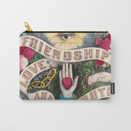 Friendship Love and Truth Vintage Illustration, 1874 Carry-All Pouch