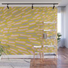 Organic Abstract Yellow Lime Wall Mural