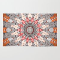 mandala Area & Throw Rugs featuring manDala by Monika Strigel