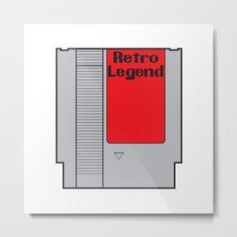 Retro Legend Gaming Quote Metal Print