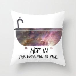 Galaxy Tub Throw Pillow