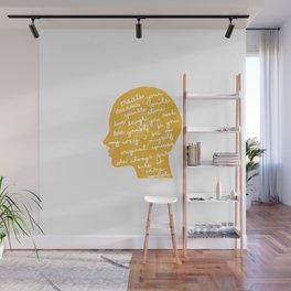 Head profile with positive attitude Wall Mural