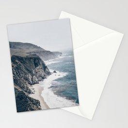 Beach Wall Art, Rocky Coast, Beach Print, Modern Wall Art Stationery Cards