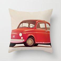 Fiat Apple 500 Throw Pillow