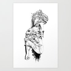 Empty Words Art Print