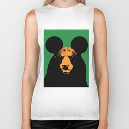 big ears bear Biker Tank