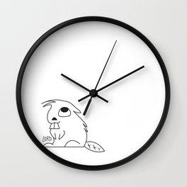 Curious Beaver Wall Clock