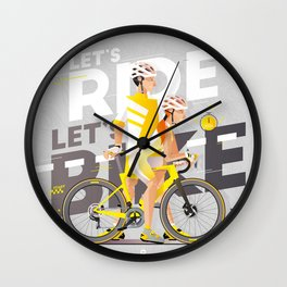 let's bike let's Ride IV Wall Clock