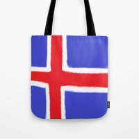 iceland Tote Bags featuring Iceland by Katja_Gerasimova